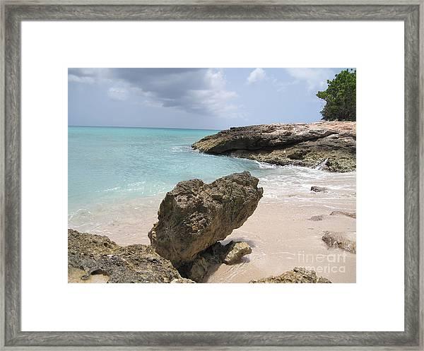 Plum Bay - St. Martin Framed Print