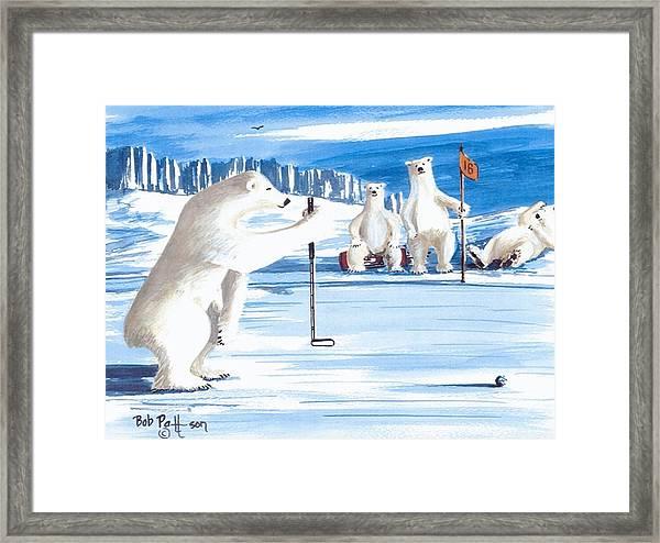 Plumb-bob Putter Framed Print by Bob Patterson
