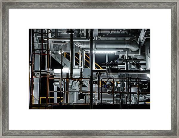 Plumbing Framed Print by Tomoshi Hara