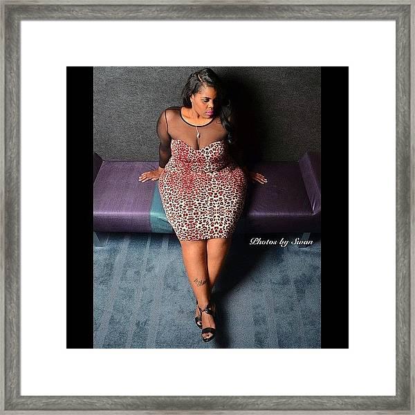 #plusmodel #phat #girls #bbw #thick Framed Print