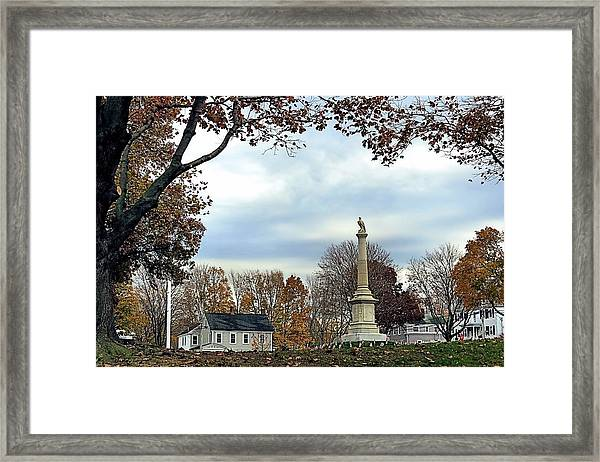 Plymouth Training Green Framed Print by Janice Drew