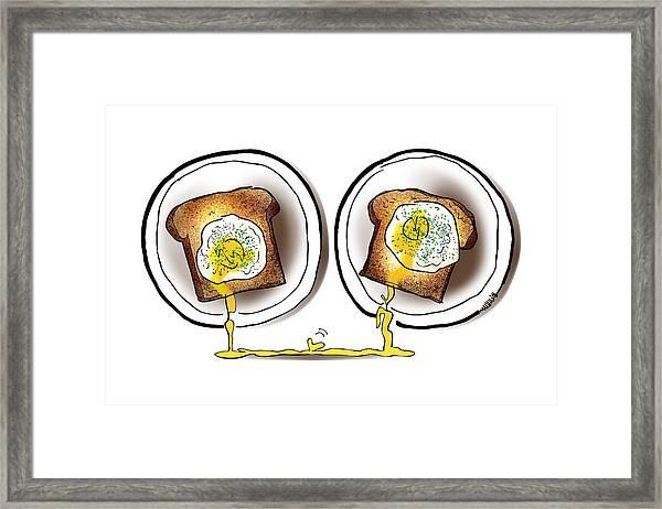Poached Egg Love Framed Print