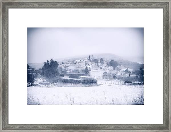 Poet-laval In Snow  Framed Print
