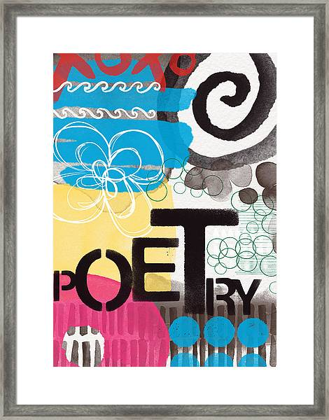 Poetry- Contemporary Abstract Painting Framed Print