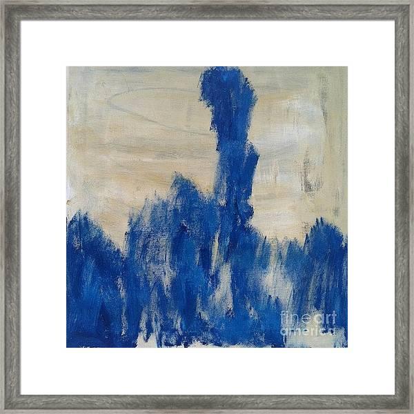 Poetry In Blue Framed Print by Bebe Brookman