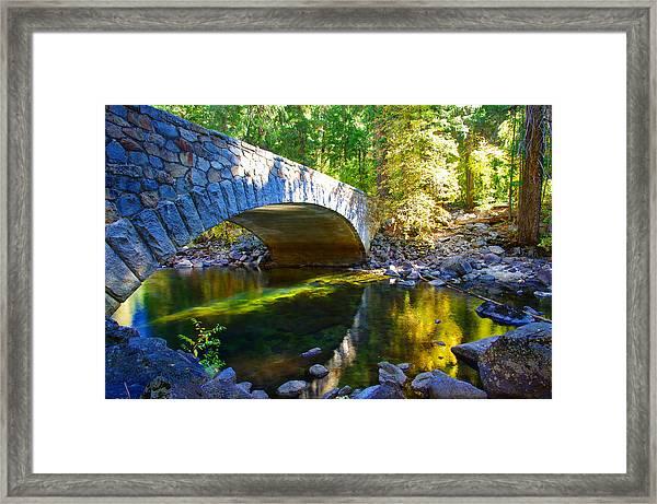 Pohono Bridge Yosemite National Park Framed Print
