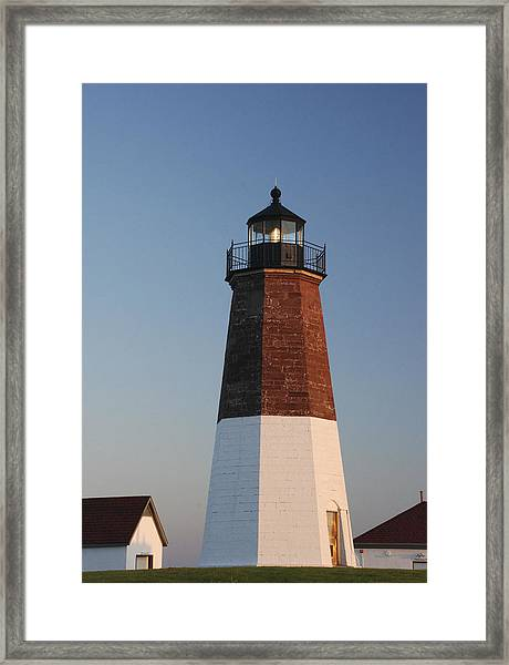 Point Judith Lighthouse Framed Print