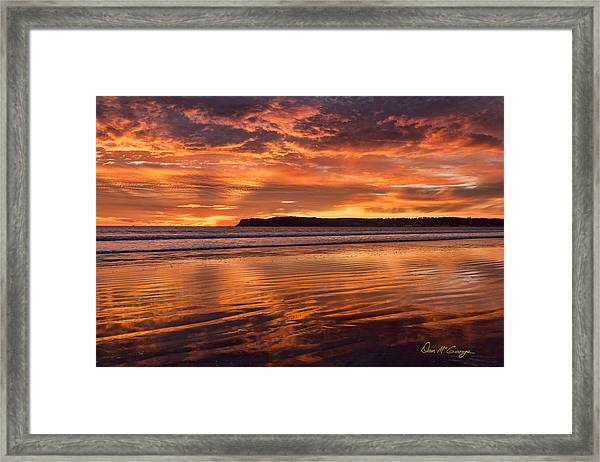 Point Loma Fire Framed Print