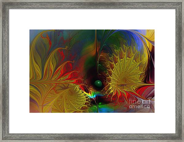 Point Of No Return-abstract Fractal Art Framed Print