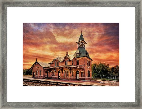 Framed Print featuring the photograph Point Of Rocks Train Station  by Lois Bryan