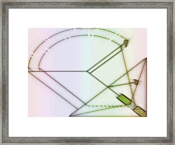 Point-out Projection Framed Print