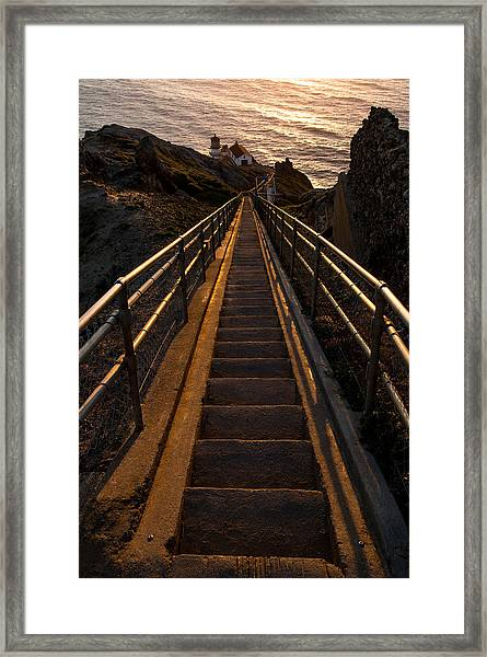 Point Reyes Lighthouse Staircase Framed Print
