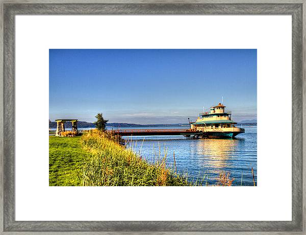 Point Ruston Ship Framed Print