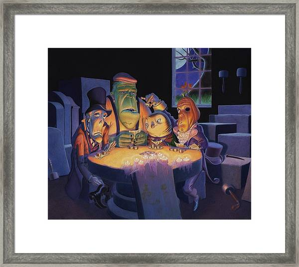 Poker Buddies Framed Print