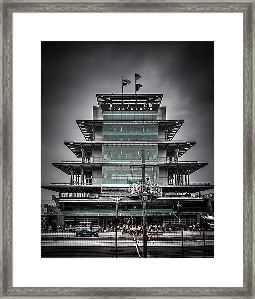 Pole Day At The Indy 500 Framed Print