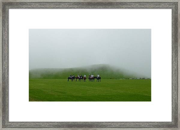 Polo In The Clouds Framed Print