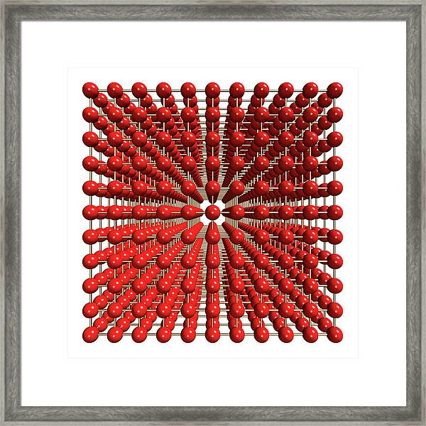 Polonium Crystal Structure Framed Print by Dr Mark J. Winter/science Photo Library