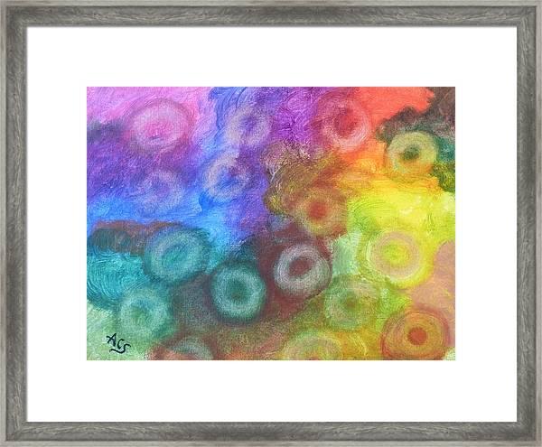 Polychromatic Rbc's Framed Print