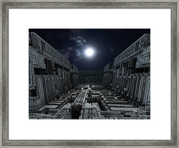 Polychrony Moonlight Framed Print by Bernard MICHEL