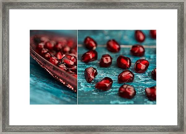 Pomegranate Collage Framed Print
