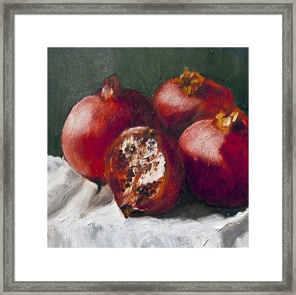 Pomegranates Framed Print