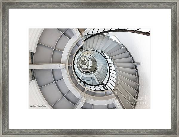 Ponce De Leon Inlet Lighthouse Staircase Framed Print