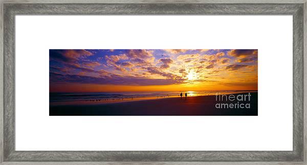 Ponce Inlet Fl Sunrise  Framed Print