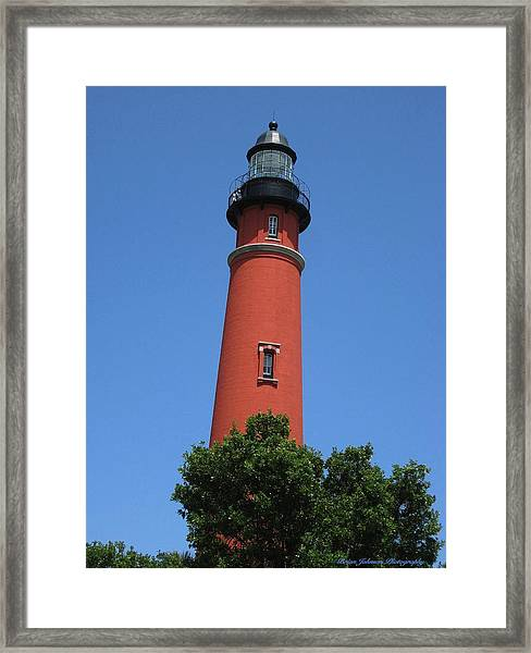 Ponce Inlet Lighthouse Florida Framed Print
