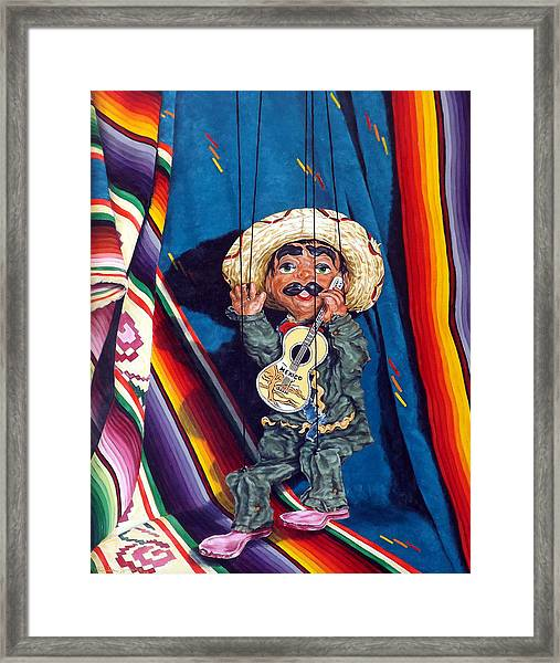 Poncho And His Guitar Framed Print