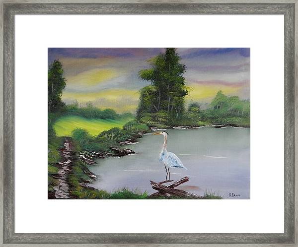 Pond Watching Framed Print