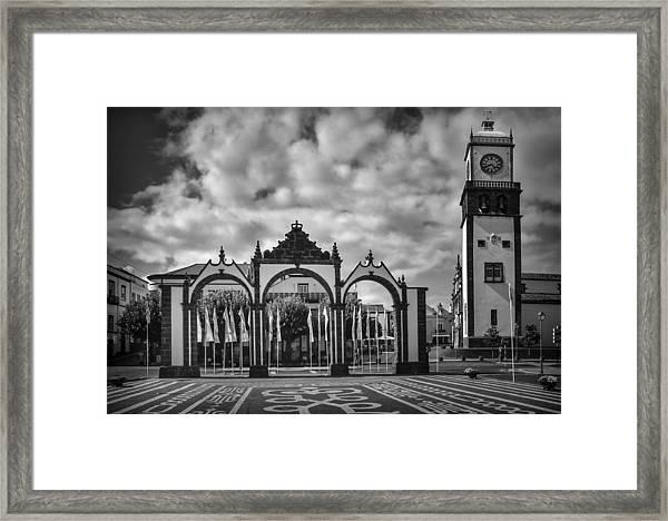 Ponta Delgada Gates Framed Print