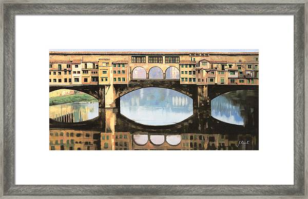 Ponte Vecchio A Firenze Framed Print