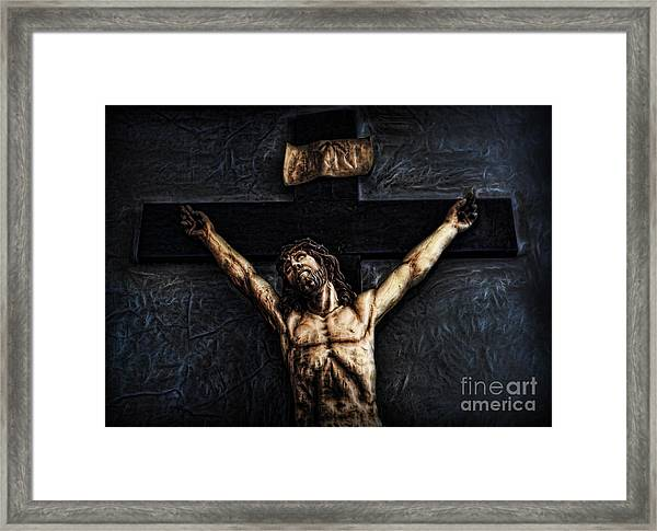 Pontius Pilate's Punishment - Crowned With Thorns Framed Print by Lee Dos Santos