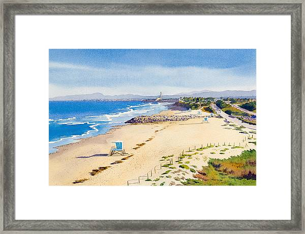 Ponto Beach Carlsbad California Framed Print