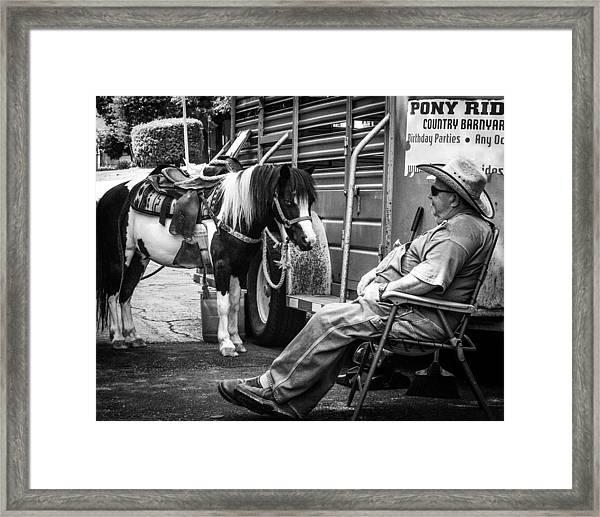 Pony Ride Framed Print