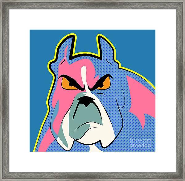 Pop Art Dog  Framed Print