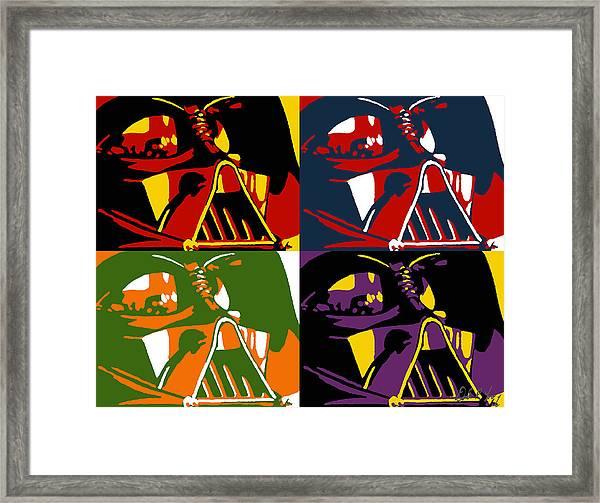 Pop Art Vader Framed Print