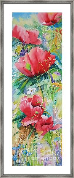 Poppies At Play Framed Print