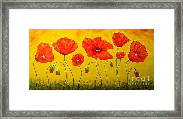 Poppies At The Time Of Framed Print