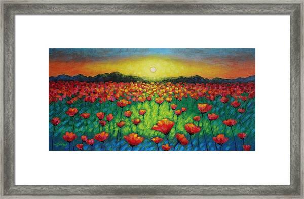 Poppies At Twilight Framed Print