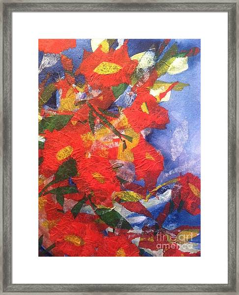 Poppies Gone Wild Framed Print