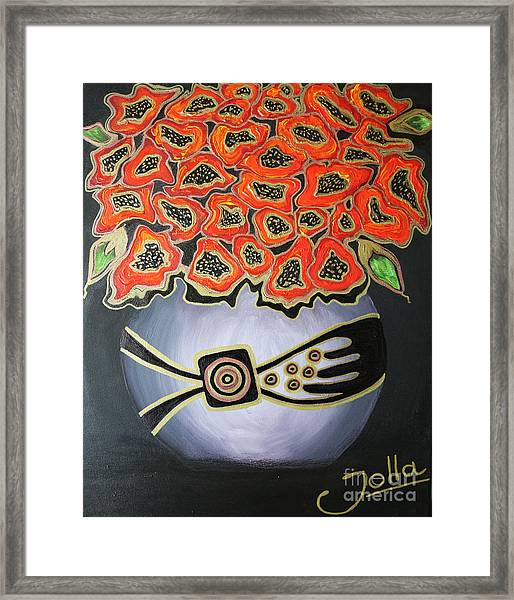 Poppies Revisited.. Framed Print