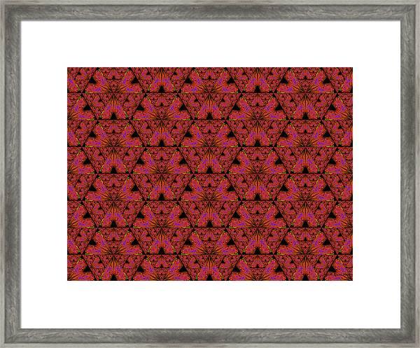 Poppy Sierpinski Triangle Fractal Framed Print