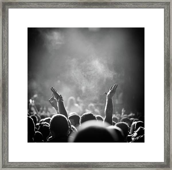 Popular Music Concert Framed Print by Alenpopov