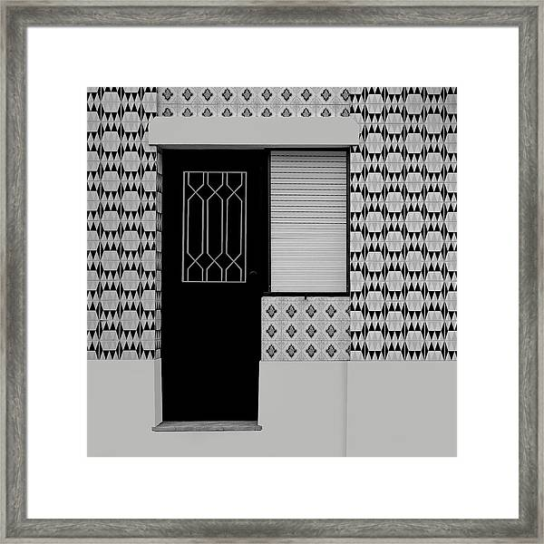Porches With Tiles Framed Print