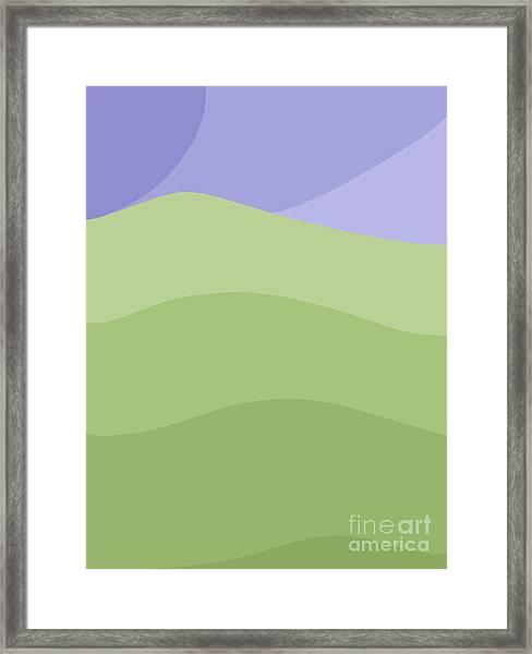 Porirua Hillside Framed Print