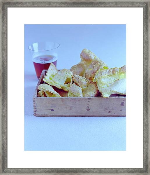 Pork Rinds With A Pint Framed Print