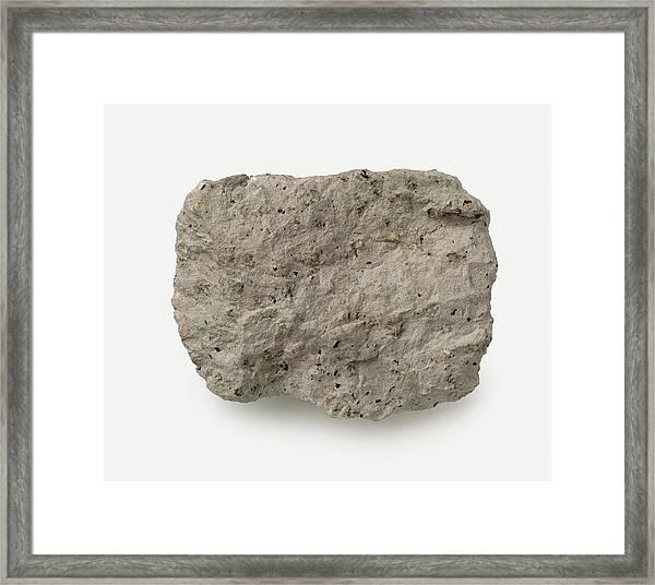 Porphyritic Trachyte Rough Framed Print by Dorling Kindersley/uig