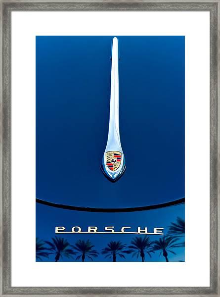 Porsche 1600 Super Hood Emblem Framed Print
