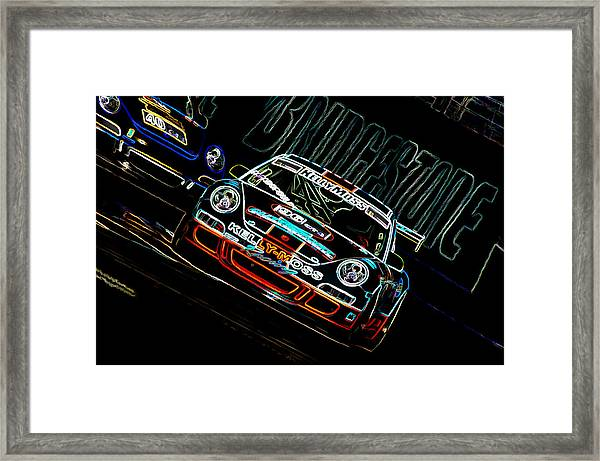 Porsche 911 Racing Framed Print
